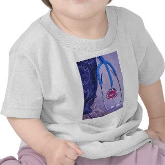 Purple Western Boot Doctor Gambling Stethoscope Shirt