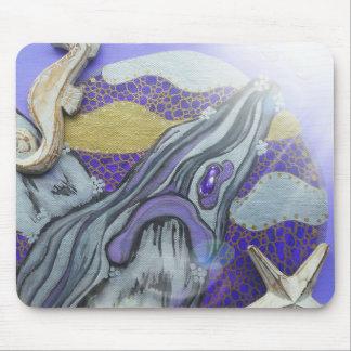 Purple whale mouse mat