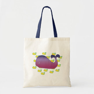 Purple Whale Tote Bag