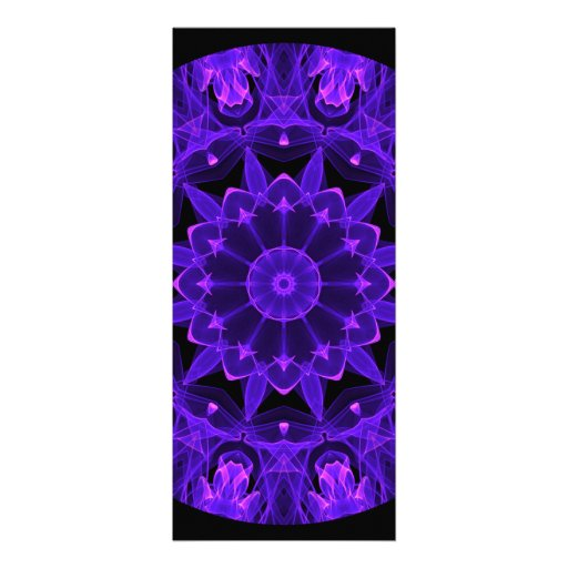 Purple Wheel of Fire Mandala, Abstract Lace Flame Custom Announcements