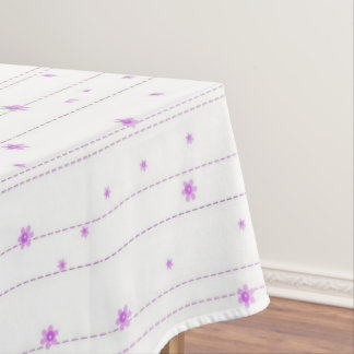 Purple Whimsical Flowers Tablecloth