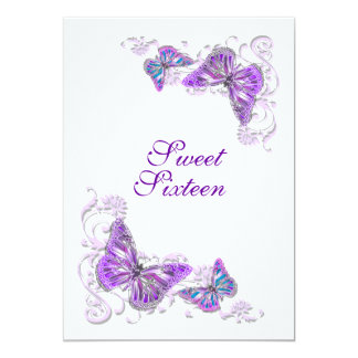 Purple white birthday engagement wedding card