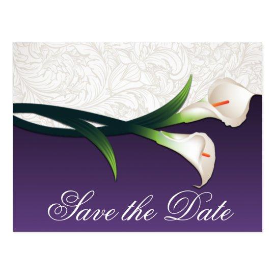 Purple & White Calla Lily Wedding Save the