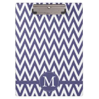 Purple White Chevron Monogram Clipboard