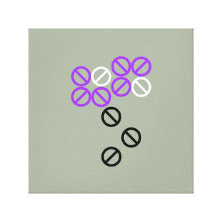 Purple White Circle Flower Floral Blossom Canvas Canvas Print