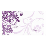 Purple White Floral Wedding Place or Escort Cards Business Card Template