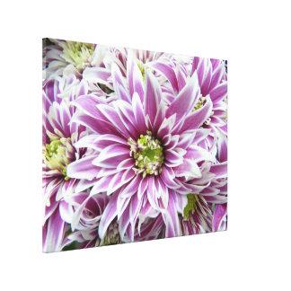 Purple white Flower Art Custom Canvas