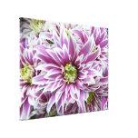 Purple white Flower Art Custom Canvas Canvas Print