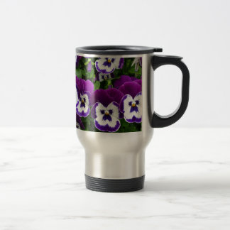 Purple & white flowers mugs