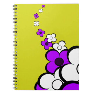 Purple & White Flowers Notebook Notebook