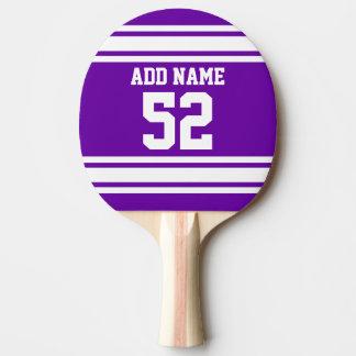 Purple White Football Jersey Custom Name Number