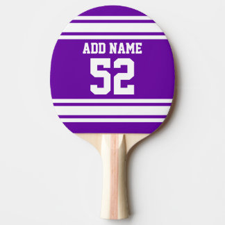 Purple White Football Jersey Custom Name Number Ping Pong Paddle