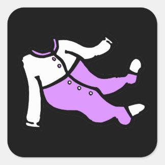 purple white footy PJ s Stickers