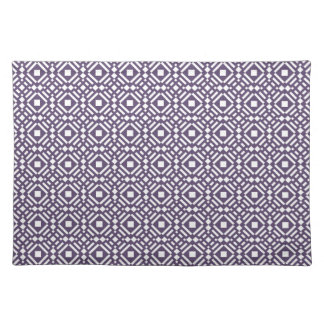 Purple & White Geometric Tile Tessellation Pattern Placemat