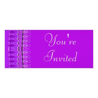 purple white custom invitations