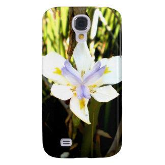 Purple White Iris Flower Samsung Galaxy S4 Cases