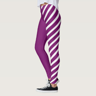 Purple & White Jester Leggings
