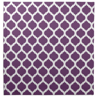 Purple & White Moroccan Pattern Cloth Napkin