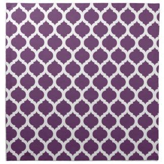 Purple & White Moroccan Pattern Napkin
