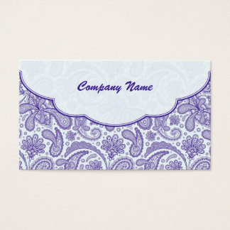 Purple & White Ornate Paisley Pattern