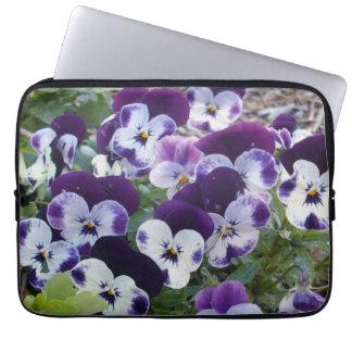 Purple_White_Pansies_13_Inch_Laptop_Sleeve Laptop Computer Sleeves