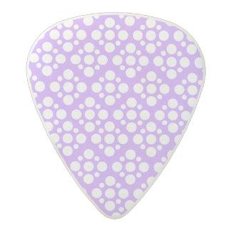 Purple white polka dot pattern acetal guitar pick