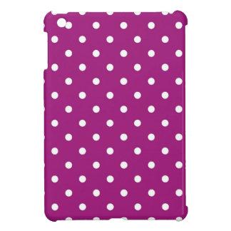 Purple & White Polka Dots, iPad Mini Hard Case iPad Mini Cases
