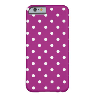 Purple & White Polka Dots, iPhone 6/6s Case