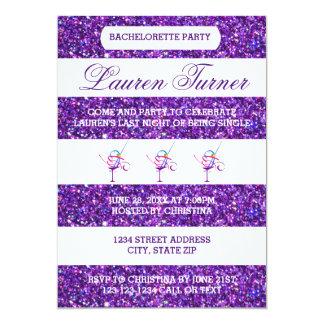 Purple & White Stripes - Bachelorette Invitation