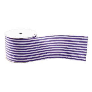 Purple-White Stripes Pattern Grosgrain Ribbon