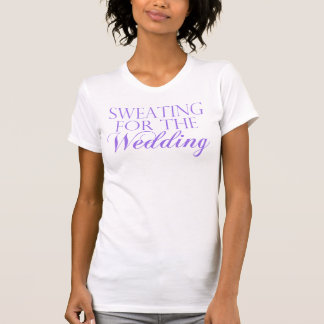 Purple & White Sweating For The Wedding. Singlet T-Shirt