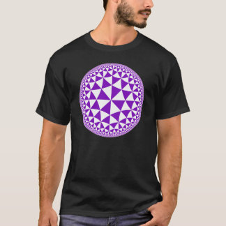 Purple & White Triangle Filled Mandala T-Shirt