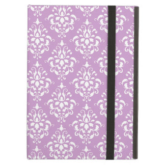 Purple White Vintage Damask Pattern 1 iPad Air Case