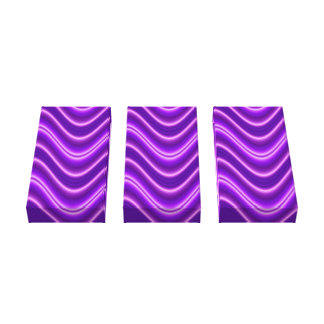 purple white waves canvas print