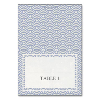 Purple+White Wedding Wave Pattern Place Name Card Table Cards