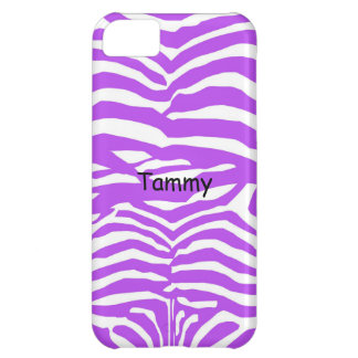 Purple & White Zebra Print iPhone 5c Cover
