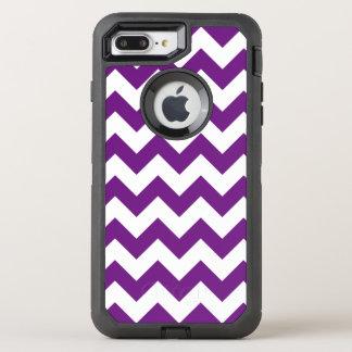 Purple White Zigzag Stripes Chevron Pattern OtterBox Defender iPhone 7 Plus Case