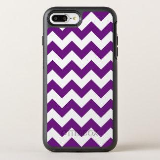 Purple White Zigzag Stripes Chevron Pattern OtterBox Symmetry iPhone 7 Plus Case