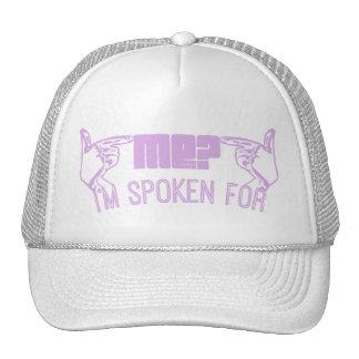 purple - who ME? I'M SPOKEN FOR. Trucker Hats