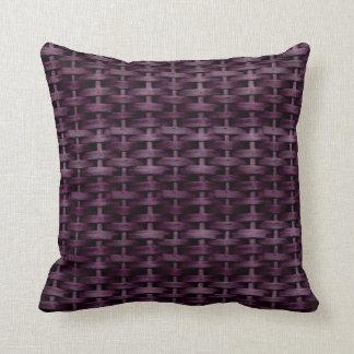 Purple wicker retro graphic design throw cushions