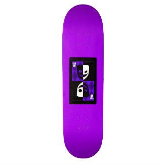 Purple Wilcard Faces Skateboard Deck