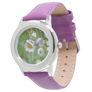 Purple Wild Daisy Wrist Watches