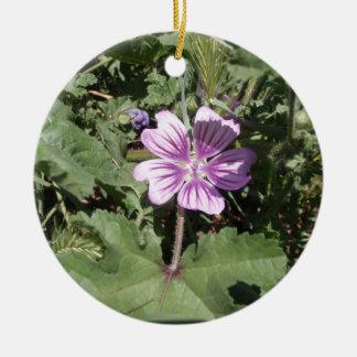 Purple Wild Flower Christmas Ornaments
