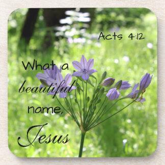 Purple Wildflower Bible Verse Coasters