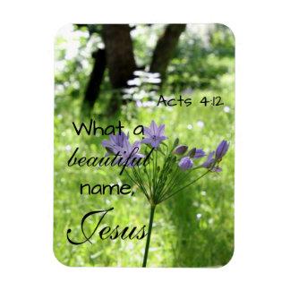 Purple Wildflower Bible Verse Magnet