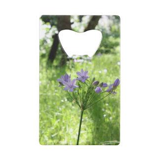 Purple Wildflower Credit Card Bottle Opener