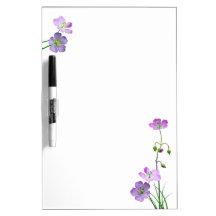 Purple Wildflower Dry Erase White Board