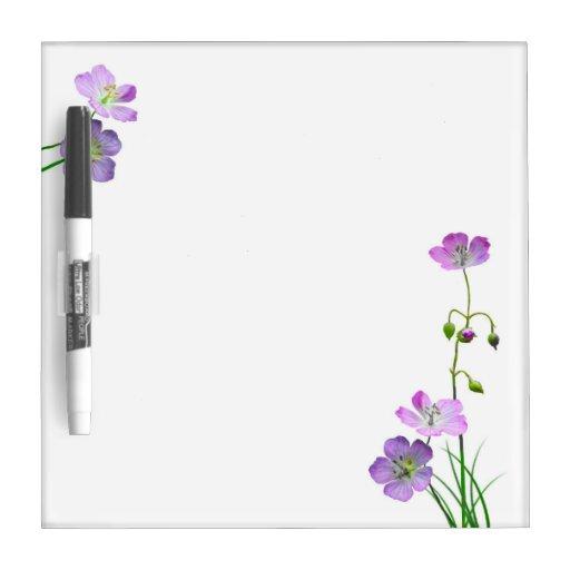Purple Wildflower Dry-Erase Whiteboards