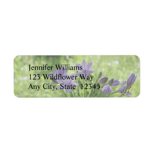 Purple Wildflower Labels