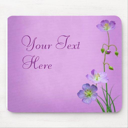Purple Wildflower on Purple Mousepads